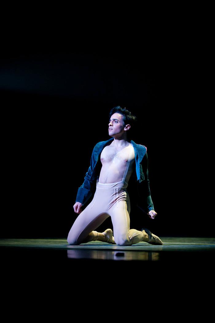 Former Oregon Ballet Theatre Soloist Javier Ubell in Trey McIntyre's Robust American Love (c) James McGrew Imaging